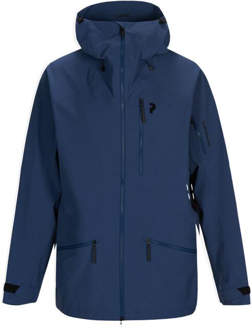 Peak Performance Maroon Long Jacket Herre Decent Blue